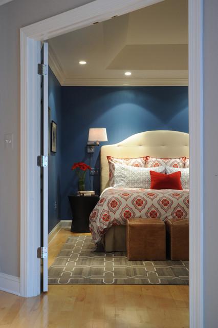 Navy Blue Master Bedroom