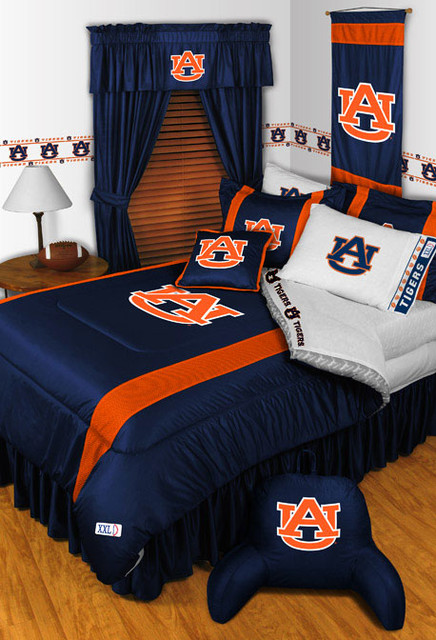 ncaa auburn tigers bedding and room decorations - modern - bedroom