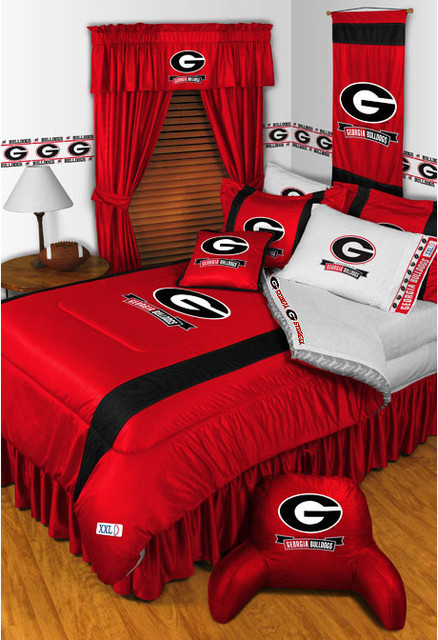 Ncaa georgia bulldogs bedding and room decorations for Georgia bulldog bedroom ideas