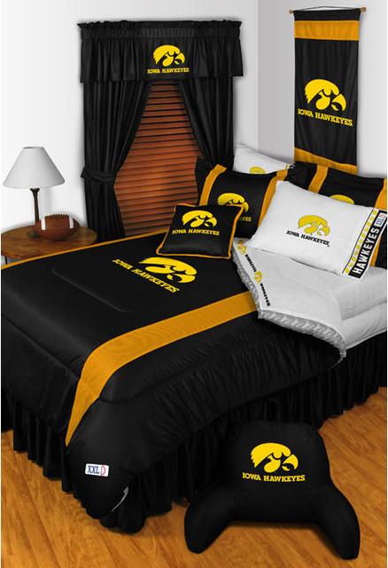 Ncaa Iowa Hawkeyes Bedding And Room Decorations Modern Bedroom