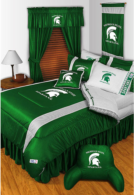 Ncaa Michigan State Spartans Bedding And Room Decorations Modern Bedroom Detroit By