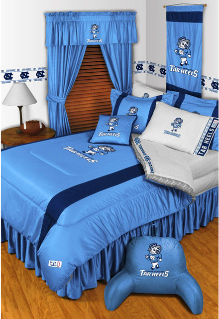 Ncaa North Carolina Tarheels Bedding And Room Decorations Traditional Bedroom Raleigh By