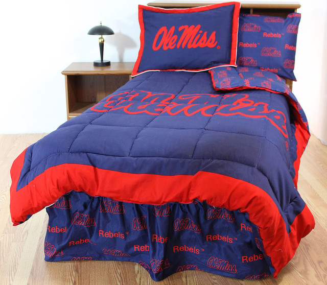 Ncaa Ole Miss Rebels Bedding And Room Decorations Modern Bedroom