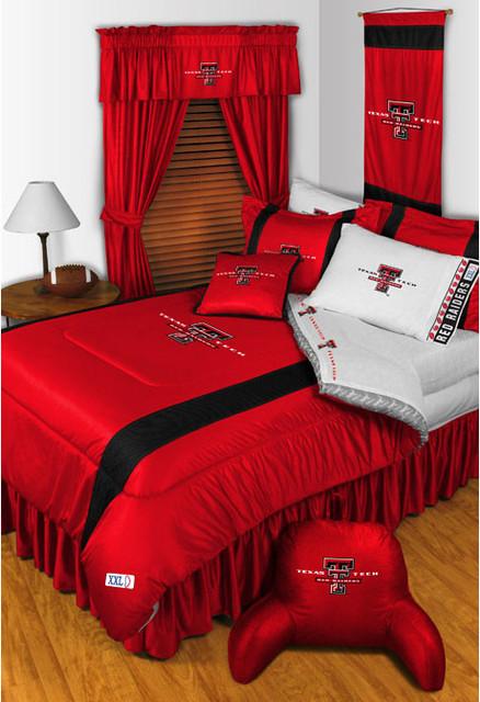 NCAA Texas Tech Red Raiders Bedding and Room Decorations modern bedroom. NCAA Texas Tech Red Raiders Bedding and Room Decorations   Modern