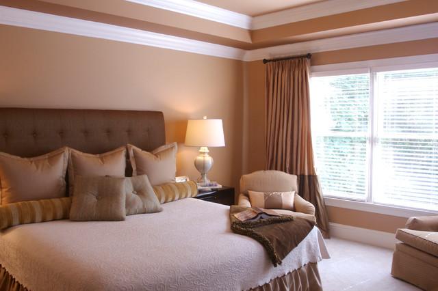 Neutral adult bedroom transitional bedroom charlotte for Bedroom concepts