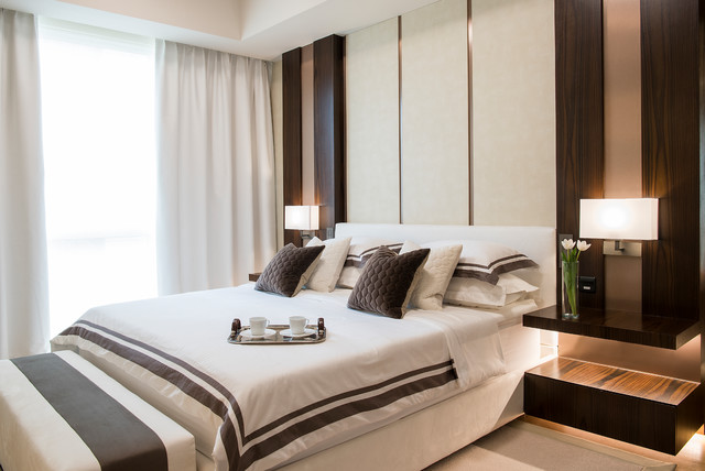 Neutral and Serene contemporary-bedroom