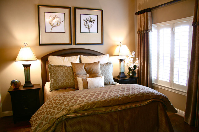 Neutral Master Suite Traditional Bedroom Dallas By Baker Design Group