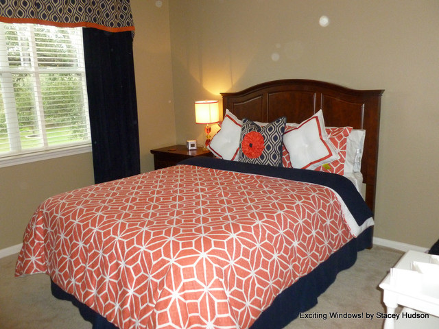 New Color combination Coral and Navy contemporary bedroom. New Color combination Coral and Navy   Contemporary   Bedroom