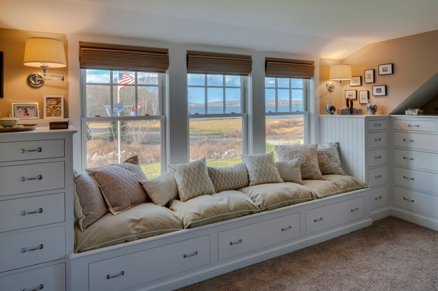 New England Cape Renovation Beach Style Bedroom