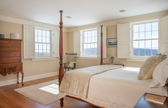New england colonial traditional bedroom boston by for New england bedroom