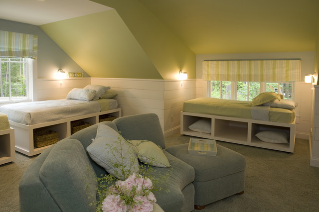 New england cottage contemporary bedroom other by for New england style bedroom