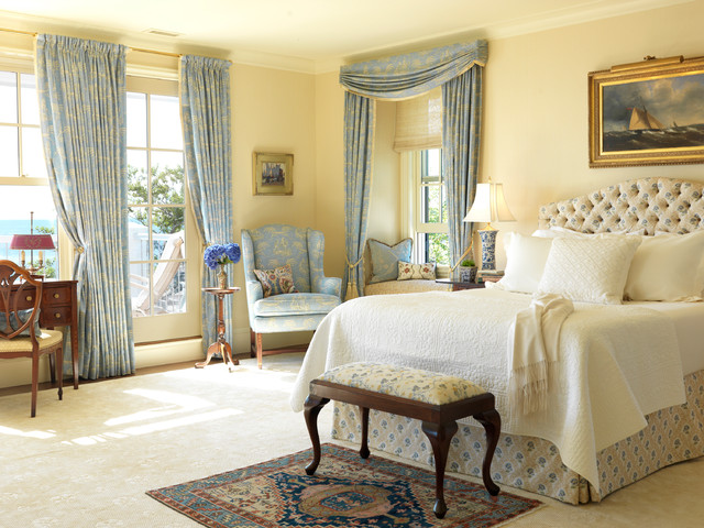 New England Ocean View Traditional Bedroom Boston