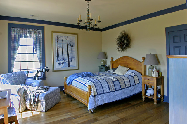 New england salt box style traditional bedroom for New england bedroom