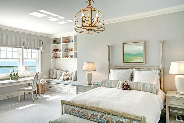 New england shingle style residence transitional for New england style bedroom