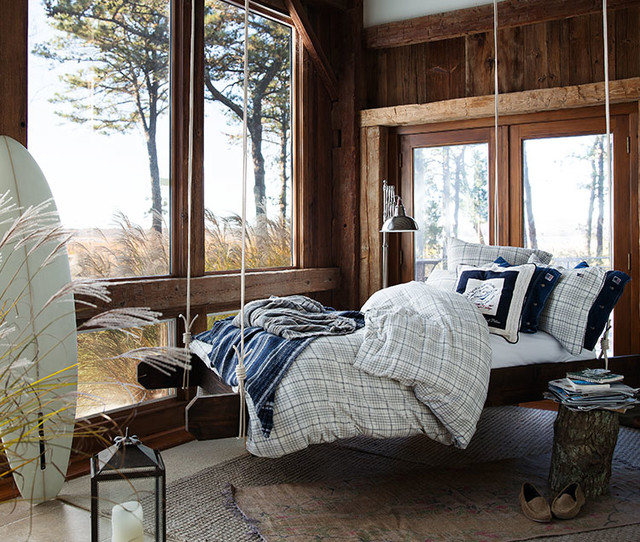 New england style beach style bedroom glasgow by for New england style bed
