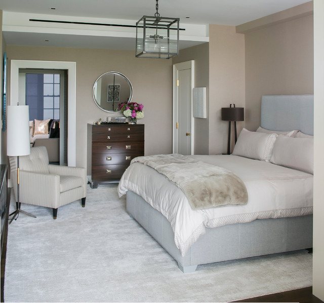 New York Fifth Avenue Apartment Master Bedroom Contemporary Bedroom New