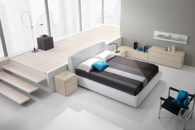 New york ny bedroom modern design bed q size 2 for Designer furniture new york