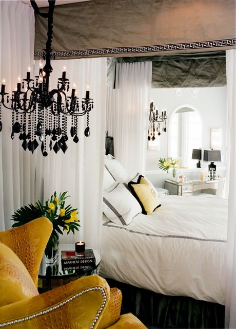 Newlywed's home eclectic-bedroom