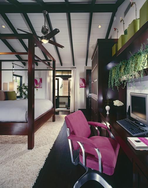 Newport Beach Custom Home 02 tropical-bedroom