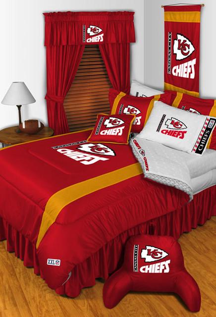 Nfl kansas city chiefs bedding and room decorations for Home decor kansas city