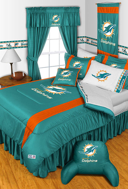 Nfl Miami Dolphins Bedding And Room Decorations Modern Bedroom