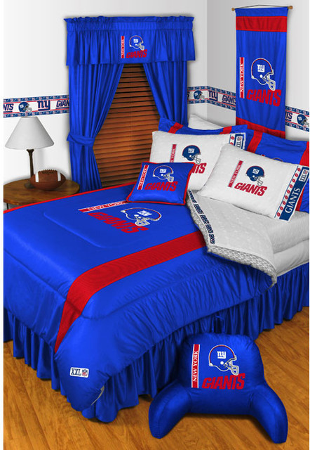 nfl new york giants bedding and room decorations modern bedroom new york by store51 llc