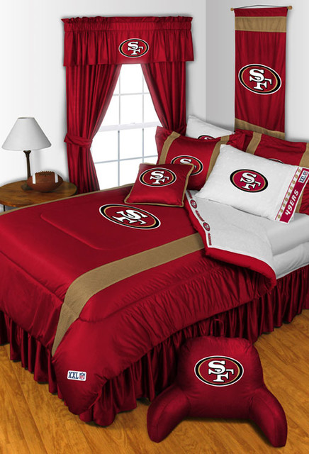 nfl san fancisco 49ers bedding and room decorations. Black Bedroom Furniture Sets. Home Design Ideas