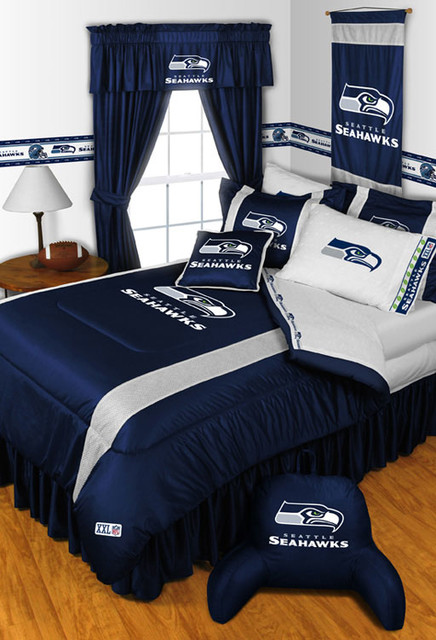 garage window curtain ideas - NFL Seattle Seahawks Bedding and Room Decorations Modern