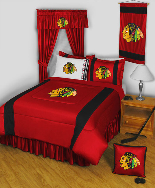 NHL Chicago Blackhawks Bedding and Room Decorations - Traditional ...