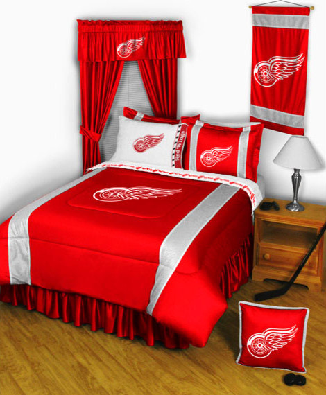 060cce6db91 NHL Detroit Red Wings Bedding and Room Decorations Modern Bedroom