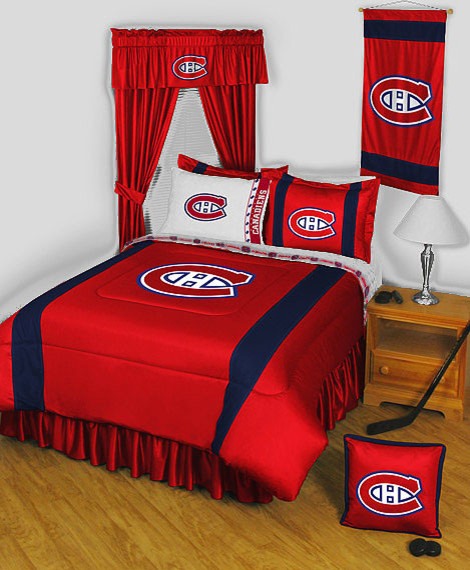 NHL Montreal Canadiens Bedding And Room Decorations