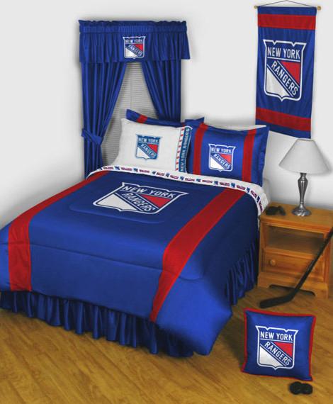 Nhl New York Rangers Bedding And Room Decorationsmodern Bedroom