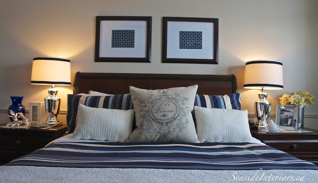 Nice In Navy Master Bedroom Update Traditional Bedroom Other By Seaside Interiors