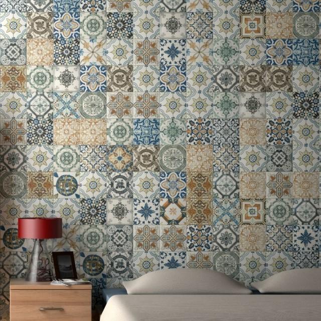 Nikea Patchwork Tiles Multi Coloured Direct Tile Warehouse Bedroom