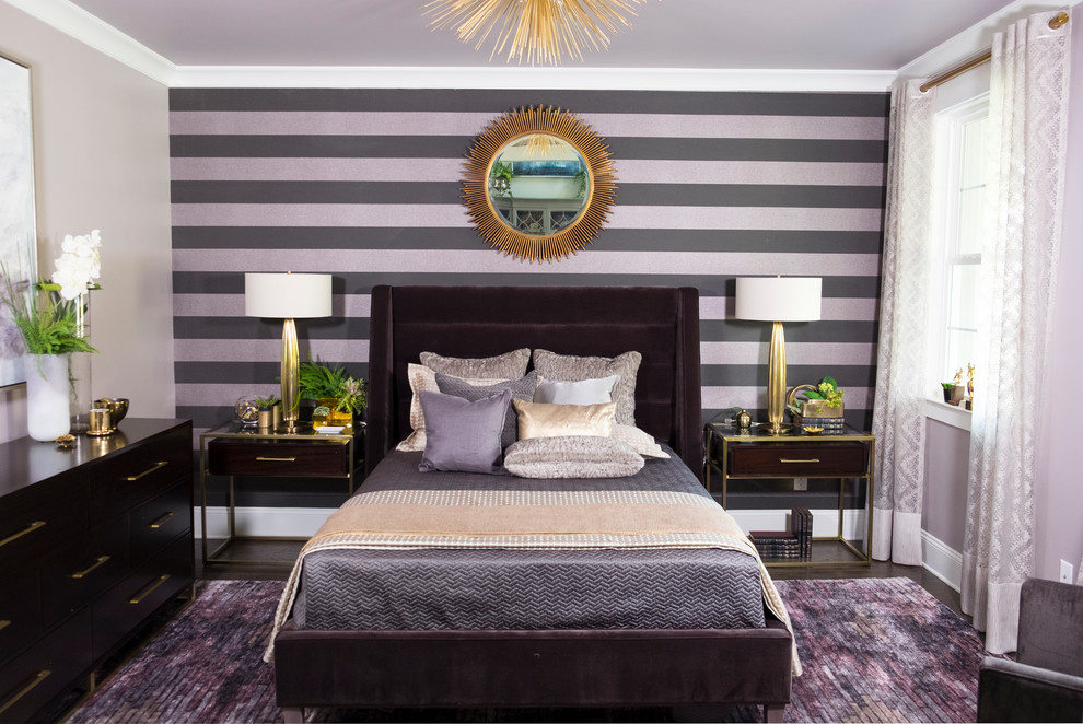 Example of a transitional bedroom design in Philadelphia