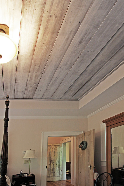 How Did You Refinish The Barn Wood Ceiling