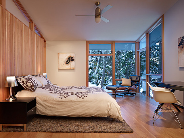 modern bedroom by DeForest Architects