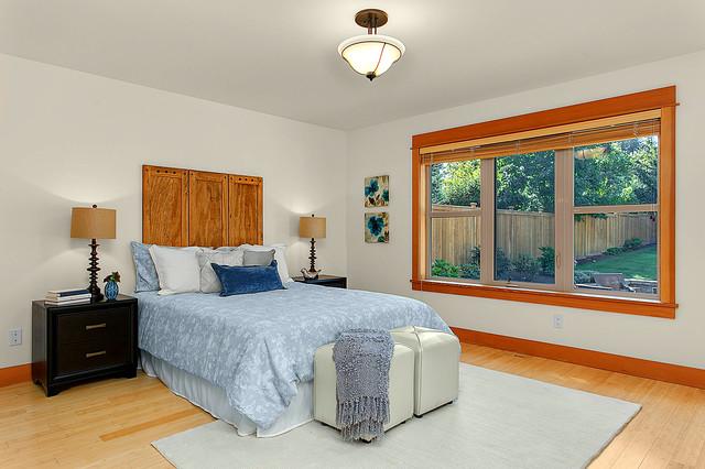 North West Mercer Island Home Transitional Bedroom