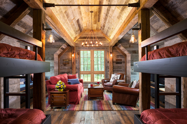 Northern Wisconsin Bunk House Rustic Bedroom Minneapolis By John Kraemer amp Sons