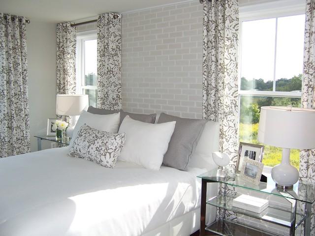 Contemporary Bedroom Idea In Dc Metro With Beige Walls