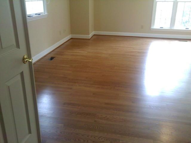Oak floor traditional-bedroom