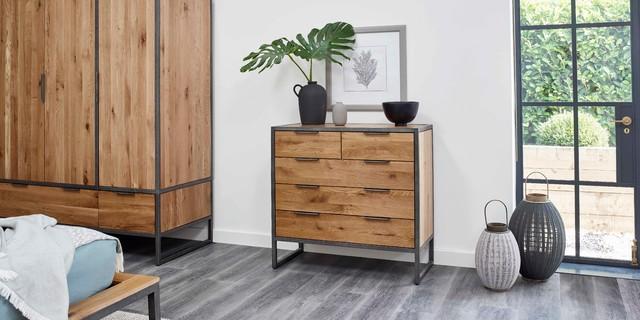 Oak Furniture Land | Brooklyn Range - Industrial - Bedroom - London - by Oak Furnitureland