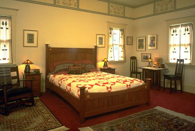 Oakland Hills Arts & Crafts Home - Traditional - Bedroom ...