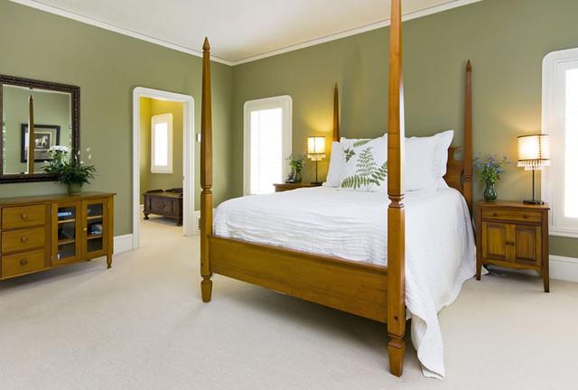 Oakland Hills Mansion Tropical Bedroom
