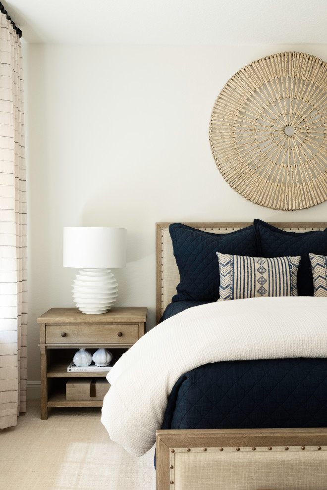 Example of a beach style guest bedroom design in Orlando