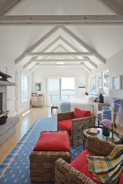 Ocean Cliff Beach Style Bedroom Portland Maine By