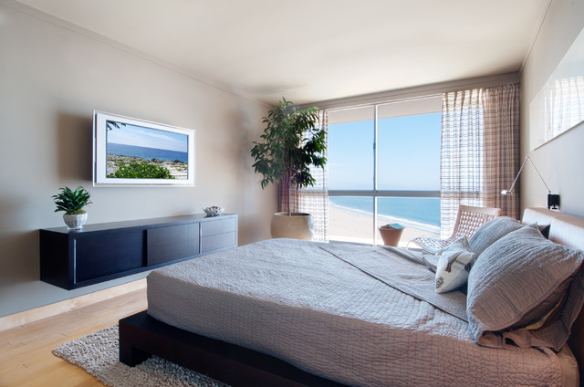 Ocean Avenue Penthouse contemporary-bedroom