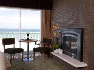 oceanfront bedroom fireplace eclectic bedroom