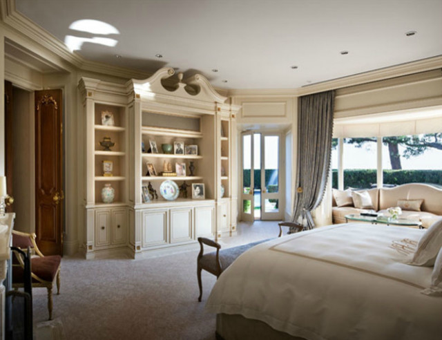 Octagonal master bedroom suite traditional bedroom los angeles by donna livingston design Pics of master bedroom suites
