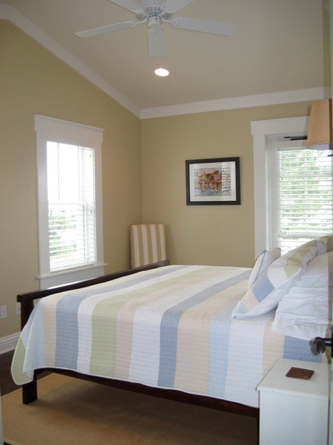 Inspiration for a coastal bedroom remodel in Tampa
